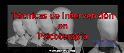Técnicas en psicoterapia